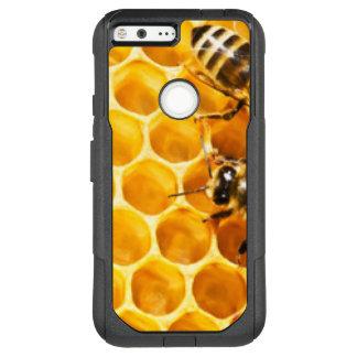 Capa OtterBox Commuter Para Google Pixel XL Favo de mel e design do teste padrão das abelhas