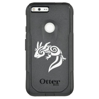 Capa OtterBox Commuter Para Google Pixel XL Salamandra tribal preta do mexicano do Axolotl