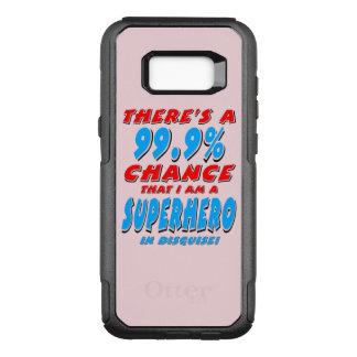 Capa OtterBox Commuter Para Samsung Galaxy S8+ 99,9% Eu sou um SUPER-HERÓI (o preto)