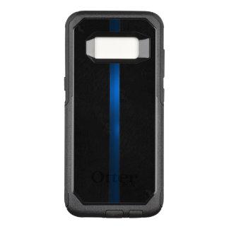 Capa OtterBox Commuter Para Samsung Galaxy S8 A aparência de madeira preta dilui Blue Line