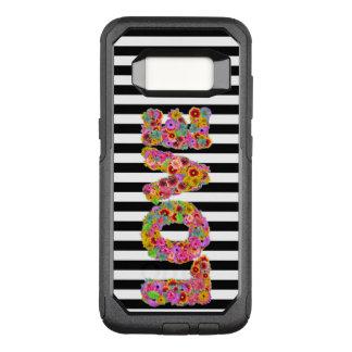 Capa OtterBox Commuter Para Samsung Galaxy S8 A flor psicadélico do amor rotula fundo listrado
