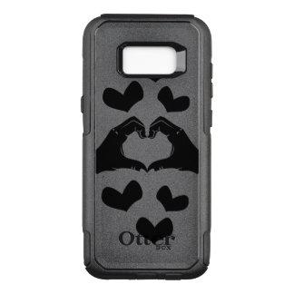 Capa OtterBox Commuter Para Samsung Galaxy S8+ A forma do coração entrega a ilustração com