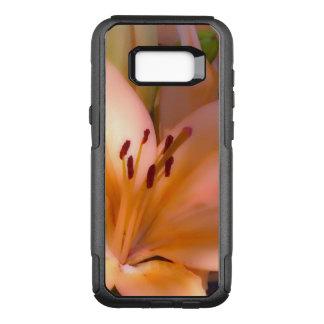 Capa OtterBox Commuter Para Samsung Galaxy S8+ A - Lírio alaranjado protegido bonito