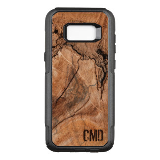 Capa OtterBox Commuter Para Samsung Galaxy S8+ A madeira Monogrammed ata a textura