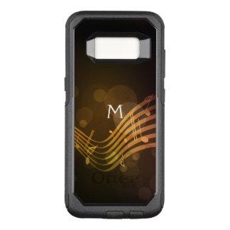Capa OtterBox Commuter Para Samsung Galaxy S8 A música do monograma nota a caixa da galáxia S8