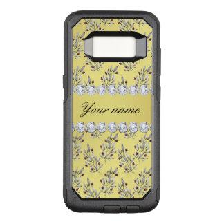 Capa OtterBox Commuter Para Samsung Galaxy S8 A prata sae bagas do diamante de Bling da folha de