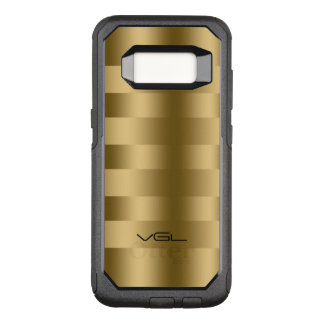 Capa OtterBox Commuter Para Samsung Galaxy S8 A textura moderna do ouro listra o teste padrão