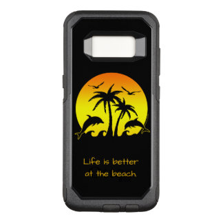 Capa OtterBox Commuter Para Samsung Galaxy S8 A vida é melhor na praia