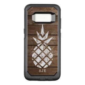 Capa OtterBox Commuter Para Samsung Galaxy S8 Abacaxi, lavagem política na madeira resistida