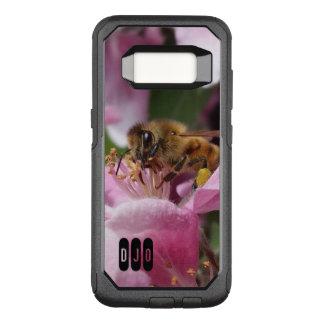 Capa OtterBox Commuter Para Samsung Galaxy S8 Abelha do mel na flor de Crabapple e nas suas