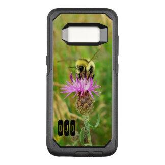 Capa OtterBox Commuter Para Samsung Galaxy S8 Abelha do mel na flor roxa da erva daninha e nas