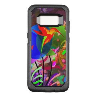 Capa OtterBox Commuter Para Samsung Galaxy S8 Abstrato colorido dos colibris e das borboletas