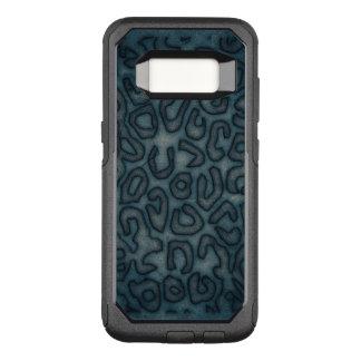 Capa OtterBox Commuter Para Samsung Galaxy S8 Abstrato escuro da chita de turquesa