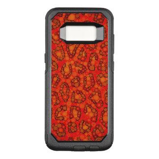 Capa OtterBox Commuter Para Samsung Galaxy S8 Abstrato fluorescente da chita do vermelho