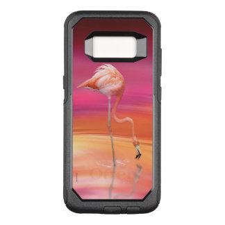 Capa OtterBox Commuter Para Samsung Galaxy S8 Acrobata do flamingo