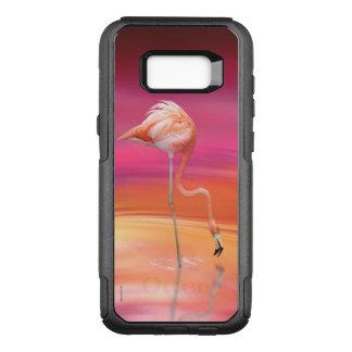 Capa OtterBox Commuter Para Samsung Galaxy S8+ Acrobata do flamingo