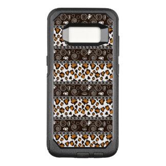 Capa OtterBox Commuter Para Samsung Galaxy S8 Africano com teste padrão da pele da chita