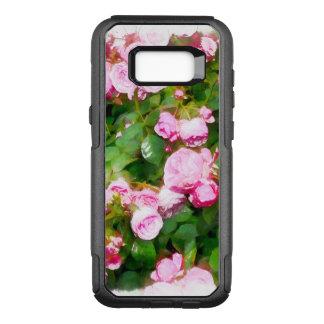 Capa OtterBox Commuter Para Samsung Galaxy S8+ Aguarela cor-de-rosa dos rosas