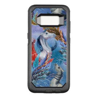 Capa OtterBox Commuter Para Samsung Galaxy S8 Aguarelas coloridas Pegasus & teste padrão das