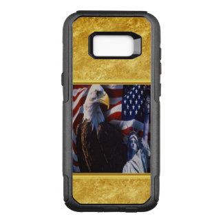 Capa OtterBox Commuter Para Samsung Galaxy S8+ Águia americana uma estátua da liberdade uma