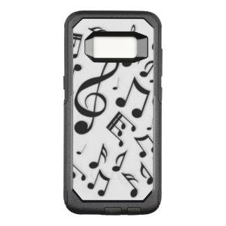 Capa OtterBox Commuter Para Samsung Galaxy S8 Alinhador longitudinal preto & branco das notas da