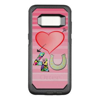 Capa OtterBox Commuter Para Samsung Galaxy S8 Amor para você sorte em ferradura floral do