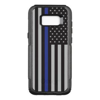 Capa OtterBox Commuter Para Samsung Galaxy S8+ Apoie a bandeira americana fina de Blue Line da