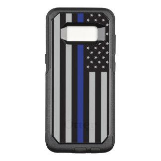 Capa OtterBox Commuter Para Samsung Galaxy S8 Apoie o americano fino de Blue Line da polícia
