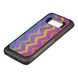 Capa OtterBox Commuter Para Samsung Galaxy S8 Arco-íris Chevron por Shirley Taylor