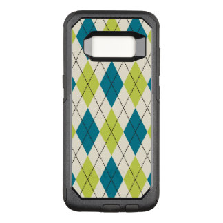 Capa OtterBox Commuter Para Samsung Galaxy S8 Argyle azul e verde