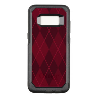 Capa OtterBox Commuter Para Samsung Galaxy S8 Argyle vermelho