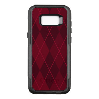 Capa OtterBox Commuter Para Samsung Galaxy S8+ Argyle vermelho