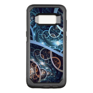 Capa OtterBox Commuter Para Samsung Galaxy S8 Arte azul surpreendente do Fractal