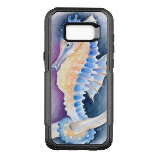 Capa OtterBox Commuter Para Samsung Galaxy S8+ Arte da aguarela do cavalo marinho