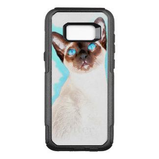 Capa OtterBox Commuter Para Samsung Galaxy S8+ Arte da aguarela do gato Siamese