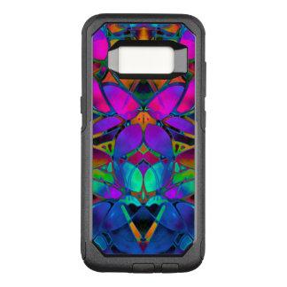 Capa OtterBox Commuter Para Samsung Galaxy S8 Arte floral do Fractal da caixa da galáxia S8 de