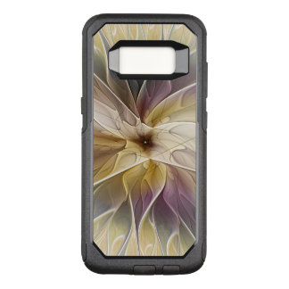Capa OtterBox Commuter Para Samsung Galaxy S8 Arte floral do Fractal do abstrato da beringela do