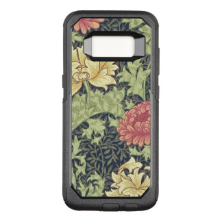 Capa OtterBox Commuter Para Samsung Galaxy S8 Arte floral do vintage do crisântemo de William