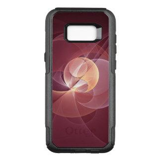 Capa OtterBox Commuter Para Samsung Galaxy S8+ Arte moderna abstrata do Fractal do rosa do