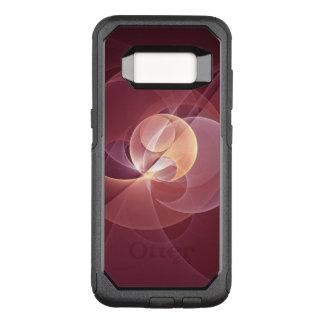 Capa OtterBox Commuter Para Samsung Galaxy S8 Arte moderna abstrata do Fractal do rosa do