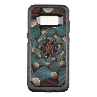 Capa OtterBox Commuter Para Samsung Galaxy S8 Arte moderna do Fractal com profundidade, Brown,