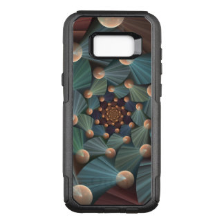 Capa OtterBox Commuter Para Samsung Galaxy S8+ Arte moderna do Fractal com profundidade, Brown,