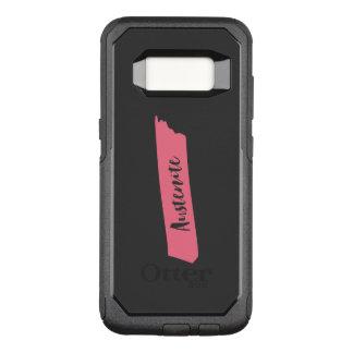 Capa OtterBox Commuter Para Samsung Galaxy S8 Austenita cor-de-rosa da escova