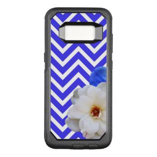 Capa OtterBox Commuter Para Samsung Galaxy S8 azul da mistura da flor da viga