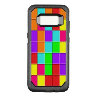 Capa OtterBox Commuter Para Samsung Galaxy S8 azulejos Multi-coloridos de Taquin arranjados