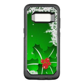Capa OtterBox Commuter Para Samsung Galaxy S8 Baga do azevinho no gelo