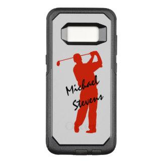 Capa OtterBox Commuter Para Samsung Galaxy S8 Balanço vermelho do golfe personalizado