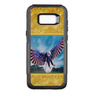 Capa OtterBox Commuter Para Samsung Galaxy S8+ Bandeira americana Eagle que voa na folha de ouro
