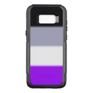 Capa OtterBox Commuter Para Samsung Galaxy S8+ Bandeira assexuada do orgulho de Falln
