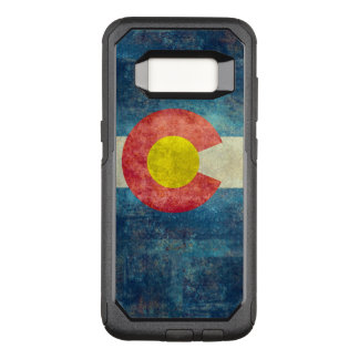 Capa OtterBox Commuter Para Samsung Galaxy S8 Bandeira do estado de Colorado com olhar sujo